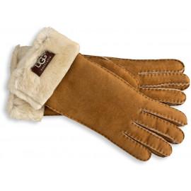 Damenhandschuhe mit Fellumschlag