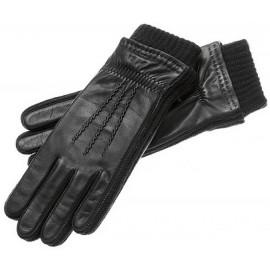 Strickrand Leder Herrenhandschuhe