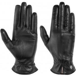 Raffung Leder Damenhandschuhe