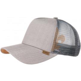 Linen Snapback Mesh Cap