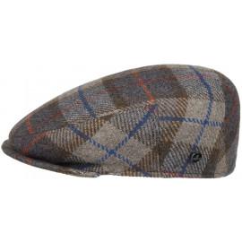 Inglese Flatcap mit Überkaro Schirmmütze