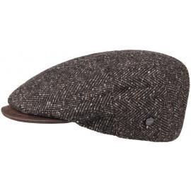 Fischgrät Tweed Flatcap Schirmmütze