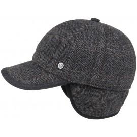Kappe mit Ohrenklappen Wool Karo Basecap