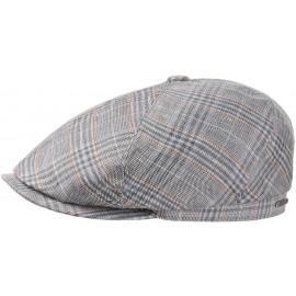 Brooklin Leinen Carreaux Schirmmütze Schiebermütze Flatcap