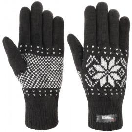 Snowflake Thinsulate Handschuhe Fingerhandschuhe Strickhandschuhe mit Fleecefutter