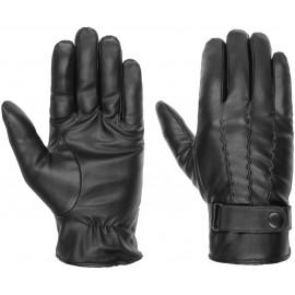 Kunstleder Handschuhe mit Teddyfutter Fingerhandschuhe Kunstlederhandschuhe Herrenhandschuhe